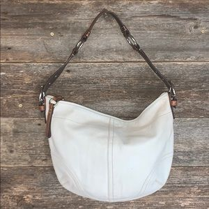 Coach White Leather Hobo Handbag